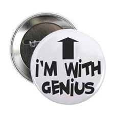 I'm With Genius - Atlantis Rodney McKay Button