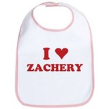 I LOVE ZACHERY Bib