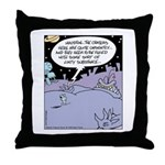 Alien Lint Monster Throw Pillow