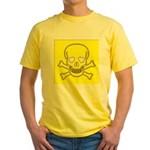SKULL UP Yellow T-Shirt
