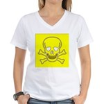 SKULL UP Women's V-Neck T-Shirt