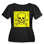SKULL UP Women's Plus Size Scoop Neck Dark T-Shirt