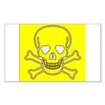 SKULL UP Rectangle Sticker