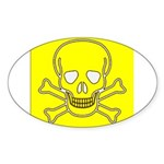 SKULL UP Oval Sticker