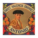 Antonio Oranges Tile Coaster