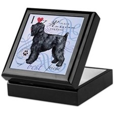 Black Russian Terrier Keepsake Box