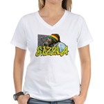 SIZZLA Women's V-Neck T-Shirt