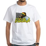 SIZZLA White T-Shirt
