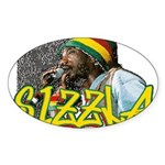 SIZZLA Oval Sticker