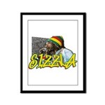 SIZZLA Framed Panel Print
