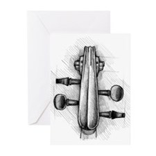 Violin Peghead Greeting Cards (Pk of 10)