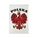 Polska Eagle Rectangle Magnet