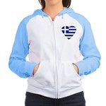 Greek Heart Women's Raglan Hoodie