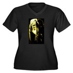 JAH WISE Women's Plus Size V-Neck Dark T-Shirt