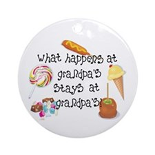 What Happens at Grandpa's... Ornament (Round)