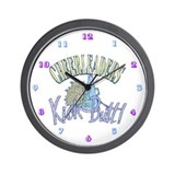 Cheerleaders Kick Butt Wall Clock