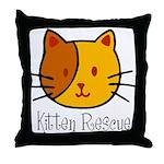 Kitten Rescue Throw Pillow