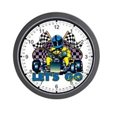 Let's Go Kart! Wall Clock