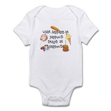 What Happens at Pappou's... Funny Infant Bodysuit