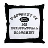 Property of an Agricultural Economist Throw Pillow