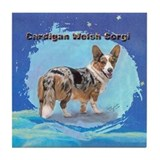 Cardigan Welsh Corgi 2 Tile Coaster