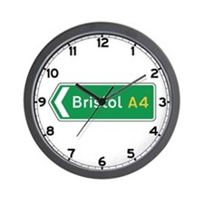 Bristol Roadmarker, UK Wall Clock