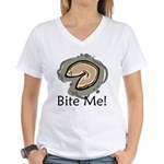 Bite Me Fortune Cookie Women's V-Neck T-Shirt