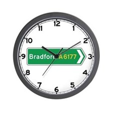 Bradford Roadmarker, UK Wall Clock