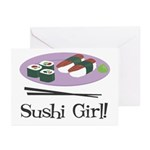 Sushi Girl! Greeting Cards (Pk of 10)