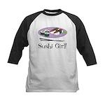 Sushi Girl! Kids Baseball Jersey