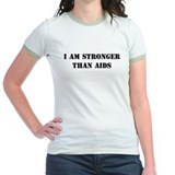 I am Stronger than AIDS Jr. Ringer T-shirt