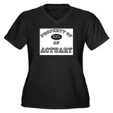 Property of an Actuary Women's Plus Size V-Neck Da