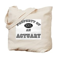 Property of an Actuary Tote Bag