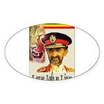 love JAH JAH Oval Sticker