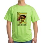 love JAH JAH Green T-Shirt