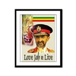 love JAH JAH Framed Panel Print