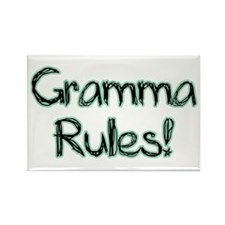 Gramma Rules! Rectangle Magnet