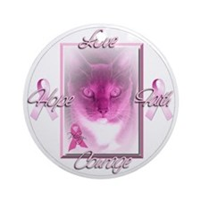 Breast Cancer Support Ornament (Round)