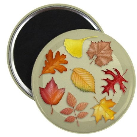 "Leaves 2.25"" Magnet (100 pack)"