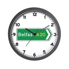 Belfast Roadmarker, UK Wall Clock