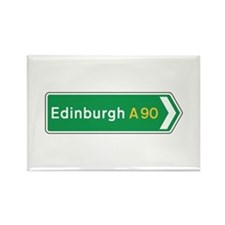 Edinburgh Roadmarker, UK Rectangle Magnet (10 pac
