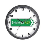 Brighton Roadmarker, UK Wall Clock