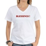 BLESSINGS Women's V-Neck T-Shirt