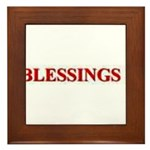 BLESSINGS Framed Tile