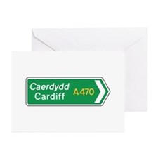Cardiff Roadmarker, UK Greeting Cards (Pk of 10)