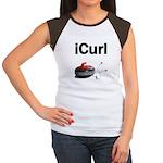 iCurl Women's Cap Sleeve T-Shirt