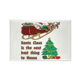 Santa Claus vs Nonna Rectangle Magnet