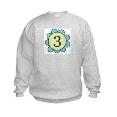 three blue/green flower Kids Sweatshirt