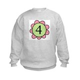 four pink/green flower Sweatshirt