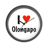 I love Olongapo Wall Clock